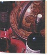 Little Break Fine Red Wine Wood Print