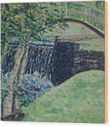 Little Bridge over Spring Creek - SOLD Wood Print