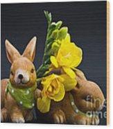Little Bunny Wood Print