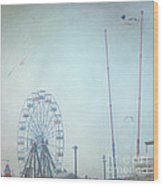 Little Carnival Town Wood Print by Sharon Coty