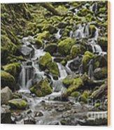 Little Cascades Wood Print