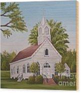 Little Chapel Wood Print