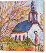 Little Church In Ginsheim Wood Print