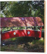 Little Covered Bridge Wood Print