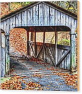 Little Covered Bridge II Wood Print