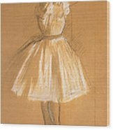 Little Dancer Wood Print by Edgar Degas