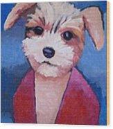 Little Dog Wood Print by Lutz Baar