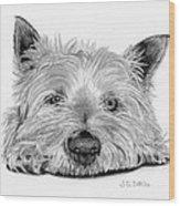 Little Dog Wood Print