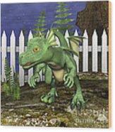 Little Dragon Wood Print