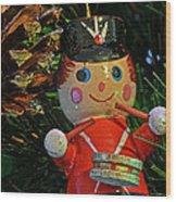 Little Drummer Boy Ornament Wood Print