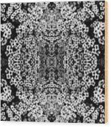Little Flower Kaleidoscope Wood Print