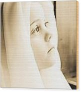 Little Girl Wood Print by BandC  Photography