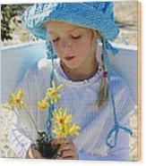 Little Girl Blue  Wood Print