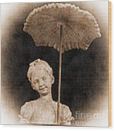 Little Girl With Umbrella Wood Print