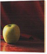 Little Green Apple Wood Print