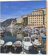 little harbor in Camogli Wood Print