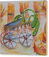 Little Harvest Wagon Wood Print