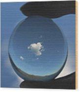 Little Heart Cloud Wood Print