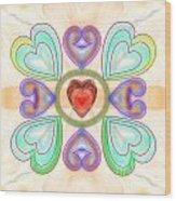 Little Hearts-2 Wood Print