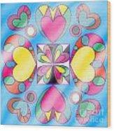 Little Hearts-5 Wood Print