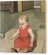 Little Hector On The Floor, 1889 Wood Print