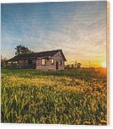 Little House On The Prairie Wood Print by Davorin Mance