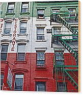Little Italy Nyc Wood Print