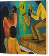 Little Jazz Trio I Wood Print by Larry Martin