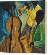 Little Jazz Trio IIi Wood Print