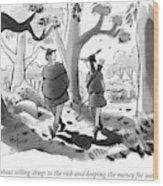 Little John And Robin Hood Walk Wood Print