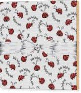 Little Ladybug Treats Wood Print