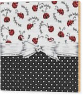 Little Ladybugs Wood Print