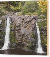 Little Manitou Falls Autumn 2 Wood Print