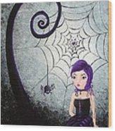 Little Miss Muffet Wood Print