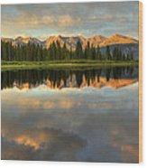 Little Molas Lake At Sunset Wood Print