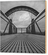 Little Mountain Sky Bridge Wood Print