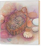Little Mouse Nap Wood Print