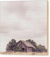 Little Old Barn In The Field - Ontario County New York State Wood Print