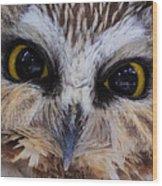 Little Owls Wood Print