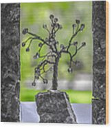 Little Pearl Tree II Wood Print