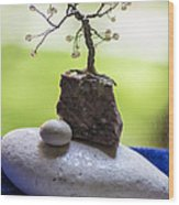 Little Pearl Tree Wood Print