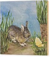 Little Pet Bunny Wood Print