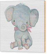 Little Pocket Elephant Wood Print