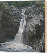Little Qualicum River Falls Vancouver Island Bc Wood Print