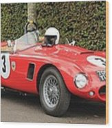 Little Red Ac Bristol Racer Wood Print