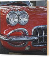 Little Red Corvette Wood Print by Bill Gallagher