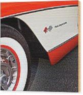 Little Red Corvette Palm Springs Wood Print