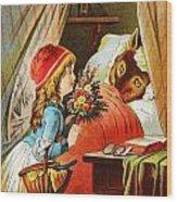 Little Red Riding Hood Wood Print