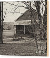 Little Red School House Wood Print