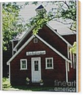 Little Red Schoolhouse Wood Print by Gail Matthews